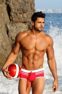 hunky muscle man