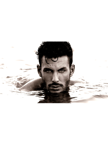 handsome man in the water