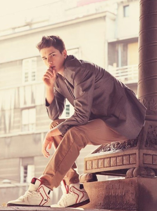 young serbian male model