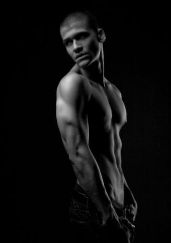 slender muscled man