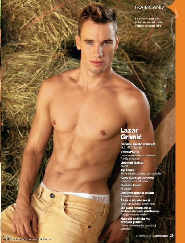 serbian muscle male model