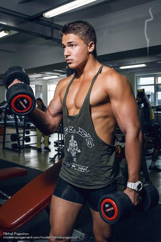 russian muscle male model