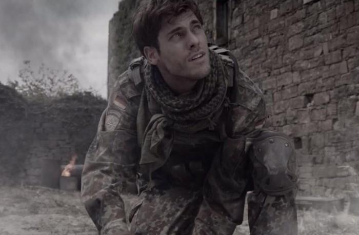 handsome Slovenian military man