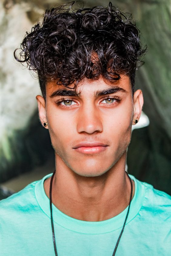 curly hair male model